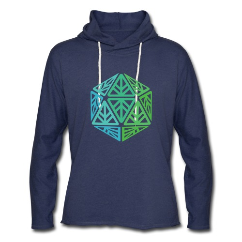 Green Leaf Geek Iconic Logo - Unisex Lightweight Terry Hoodie