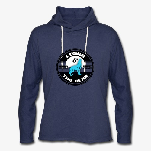 Lesbo and The Bean Logo - Unisex Lightweight Terry Hoodie