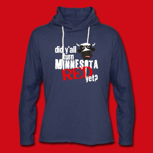 Turn Minnesota Red - Unisex Lightweight Terry Hoodie