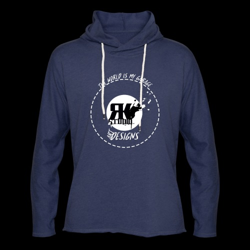 The World is My Garage - Unisex Lightweight Terry Hoodie