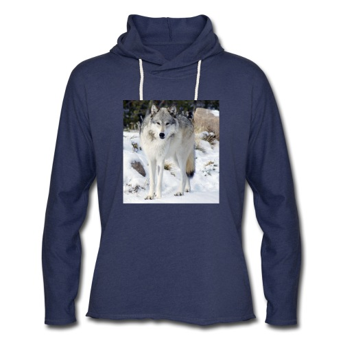 Canis lupus occidentalis - Unisex Lightweight Terry Hoodie