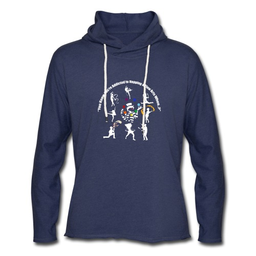 You Know You're Addicted to Hooping - White - Unisex Lightweight Terry Hoodie