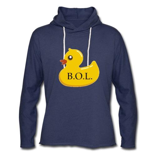 Official B.O.L. Ducky Duck Logo - Unisex Lightweight Terry Hoodie