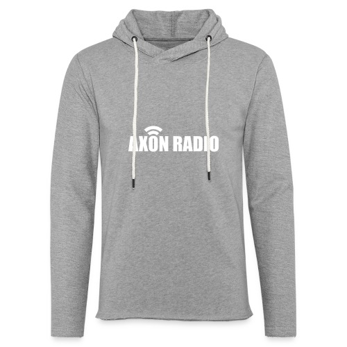 Axon Radio | White night apparel. - Unisex Lightweight Terry Hoodie