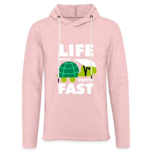 Life moves pretty fast - Unisex Lightweight Terry Hoodie