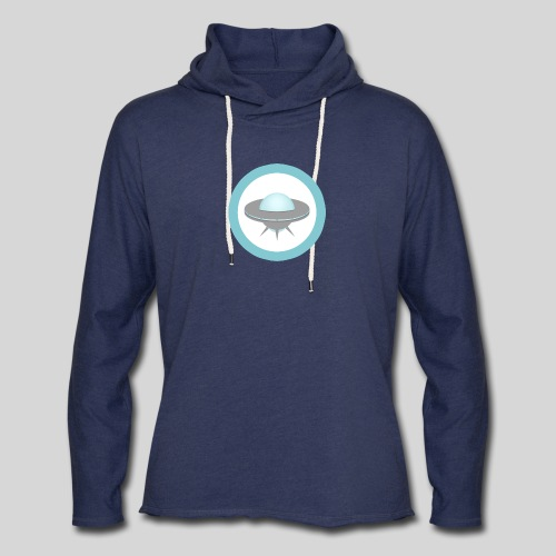 ALIENS WITH WIGS - Small UFO - Unisex Lightweight Terry Hoodie