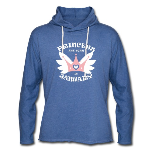 Princess Are Born In January - Unisex Lightweight Terry Hoodie