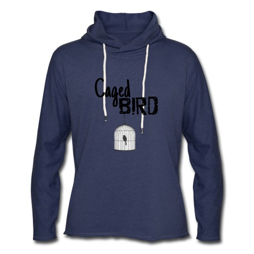 Caged Bird Abstract Design - Unisex Lightweight Terry Hoodie