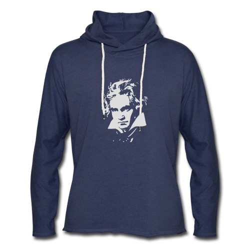 Ludvig Van Beethoven negative for dark shirts - Unisex Lightweight Terry Hoodie