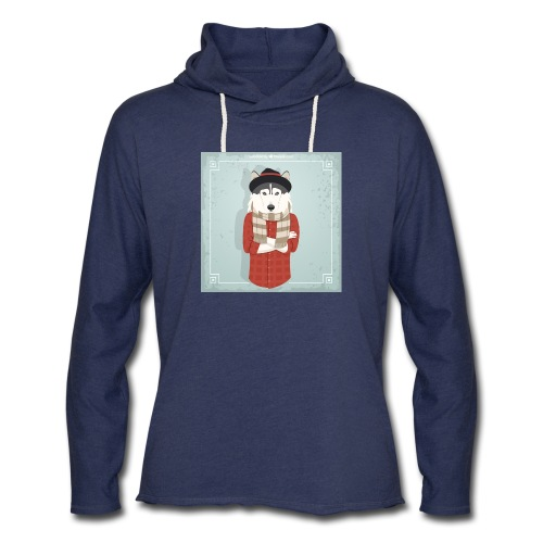 Hispter Dog - Unisex Lightweight Terry Hoodie