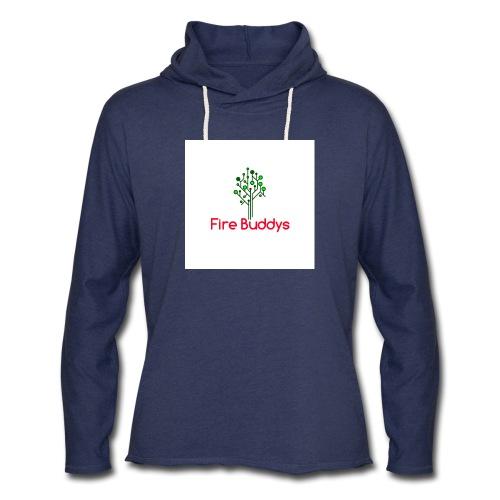 Fire Buddys Website Logo White Tee-shirt eco - Unisex Lightweight Terry Hoodie