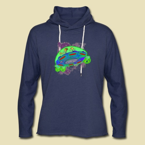 Ongher's UFO Flying Saucer - Unisex Lightweight Terry Hoodie
