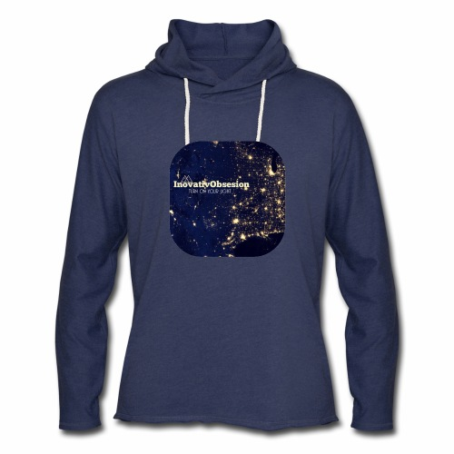 "InovativObsesion ""TURN ON YOU LIGHT"" Apparel - Unisex Lightweight Terry Hoodie"