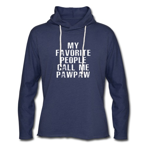 My Favorite People Called me PawPaw - Unisex Lightweight Terry Hoodie