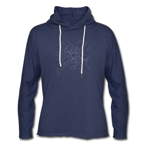 Triangles - Dimmed - Unisex Lightweight Terry Hoodie