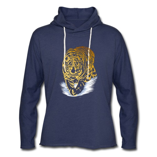 Golden Snow Tiger - Unisex Lightweight Terry Hoodie