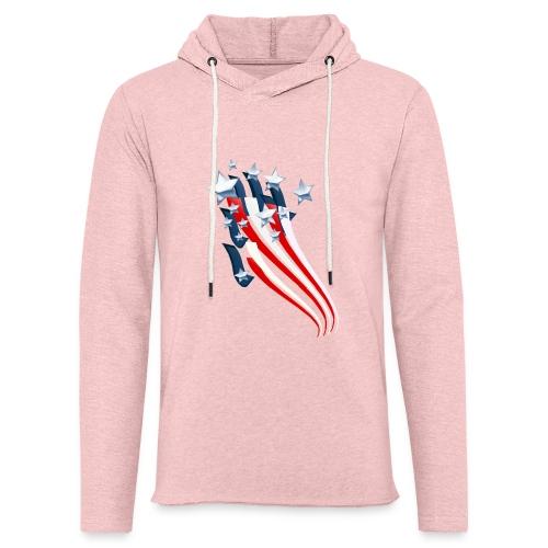 Sweeping American Flag - Unisex Lightweight Terry Hoodie
