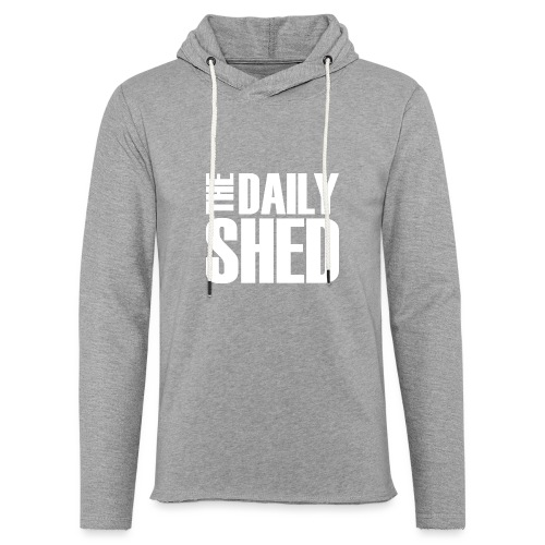The Daily Shed - White - Unisex Lightweight Terry Hoodie