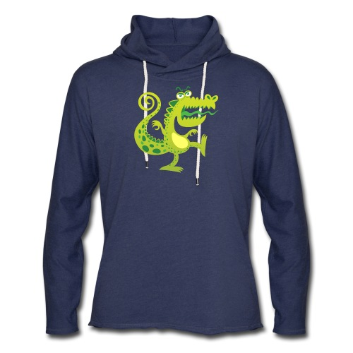 Scary reptile like monster growling in angry mood - Unisex Lightweight Terry Hoodie