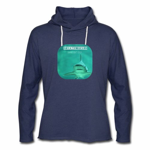"InovativObsesion ""SHARKS DON'T SLEEP"" apparel - Unisex Lightweight Terry Hoodie"