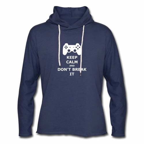 Keep Calm and don't break your game controller - Unisex Lightweight Terry Hoodie