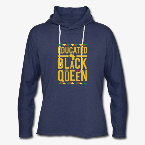 Educated Black Queen - Unisex Lightweight Terry Hoodie