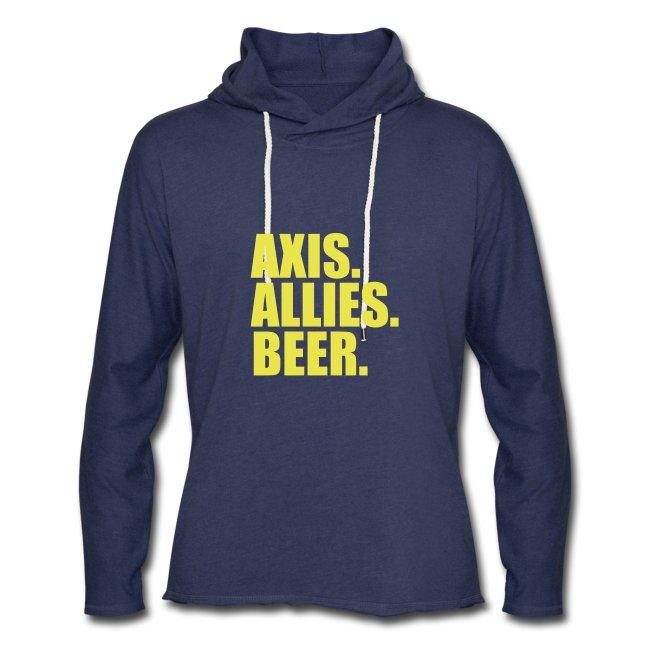 Axis & Allies hoodie: Axis. Allies. Beer.