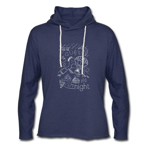 Up at Night Design - Unisex Lightweight Terry Hoodie