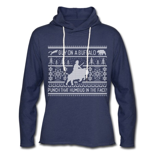 Guy on a Buffalo X-mas 17 - Unisex Lightweight Terry Hoodie