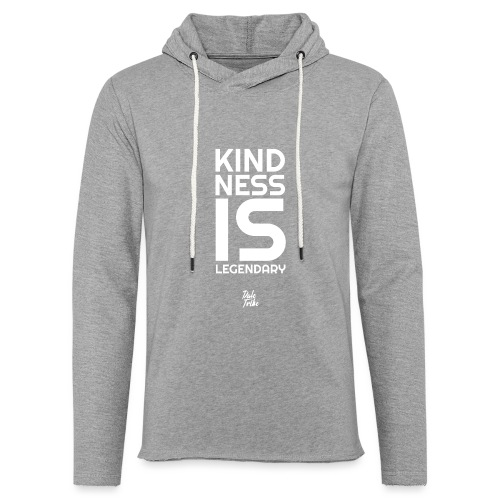 Kindness is Legendary - Unisex Lightweight Terry Hoodie
