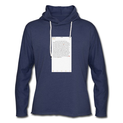 Text from a Football Commit - Unisex Lightweight Terry Hoodie