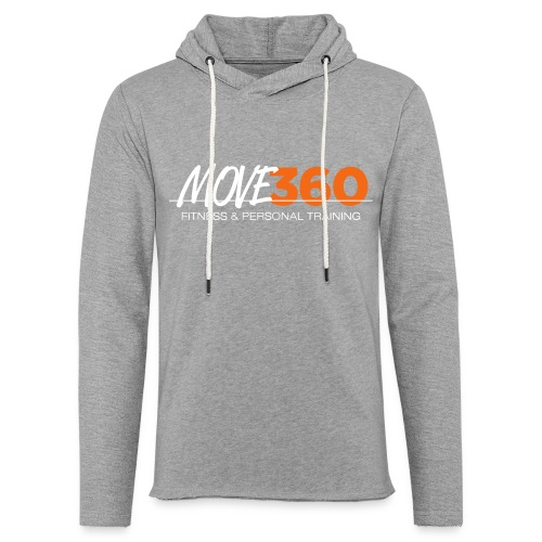 Move360 Logo LightGrey - Unisex Lightweight Terry Hoodie