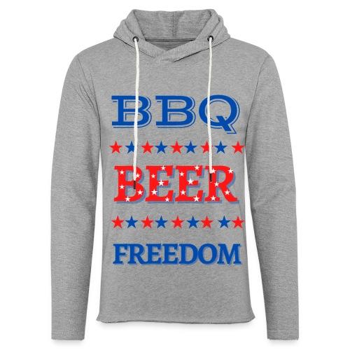 BBQ BEER FREEDOM - Unisex Lightweight Terry Hoodie