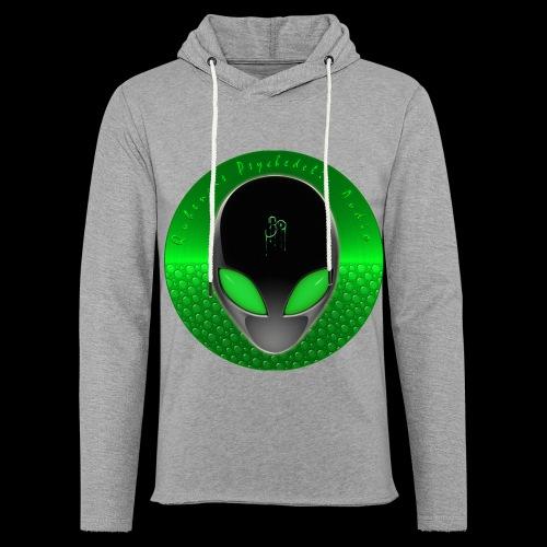 Psychedelic Alien Dolphin Green Cetacean Inspired - Unisex Lightweight Terry Hoodie