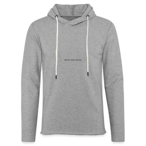 Shoot. Edit. Inspire - Unisex Lightweight Terry Hoodie