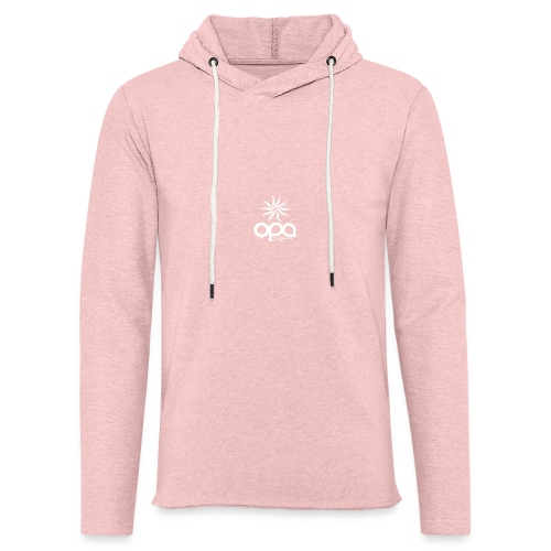Hoodie with small white OPA logo - Unisex Lightweight Terry Hoodie