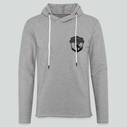 ROCKY MOUNTAIN CANYONING-on light back-2side-2logo - Unisex Lightweight Terry Hoodie