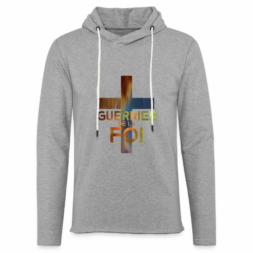 WARRIOR OF FAITH - Unisex Lightweight Terry Hoodie