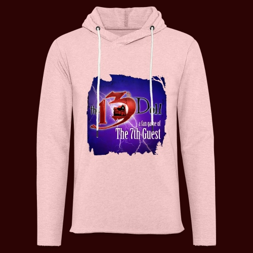 The 13th Doll Logo With Lightning - Unisex Lightweight Terry Hoodie