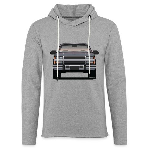 Design Icon: American Bowtie Silver Urban Truck - Unisex Lightweight Terry Hoodie