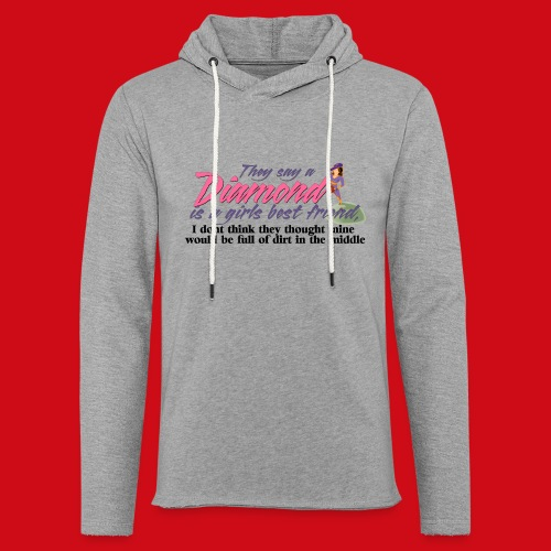 Softball Diamond is a girls Best Friend - Unisex Lightweight Terry Hoodie