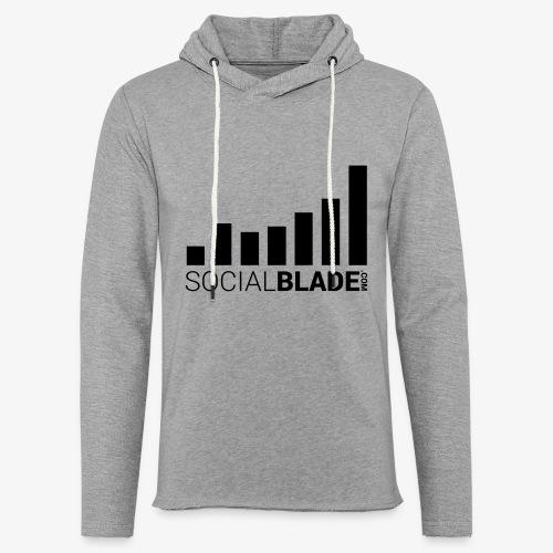 Socialblade (Dark) - Unisex Lightweight Terry Hoodie