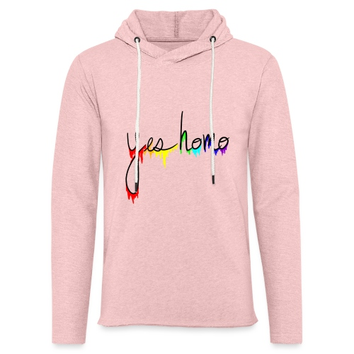 Yes Homo Rainbow Drip - Unisex Lightweight Terry Hoodie