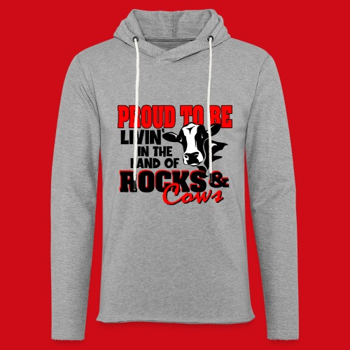 Livin' in the Land of Rocks & Cows - Unisex Lightweight Terry Hoodie