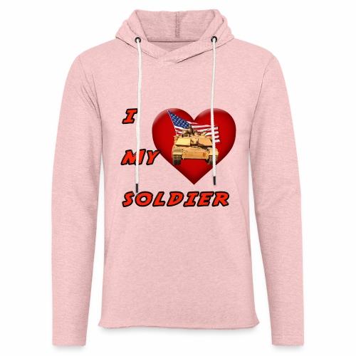 I Heart my Soldier - Unisex Lightweight Terry Hoodie
