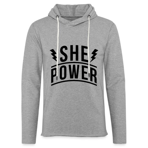 She Power - Unisex Lightweight Terry Hoodie