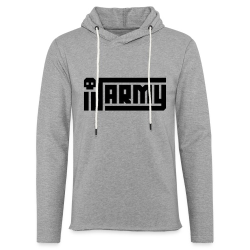 iJustine - iJ Army Logo - Unisex Lightweight Terry Hoodie