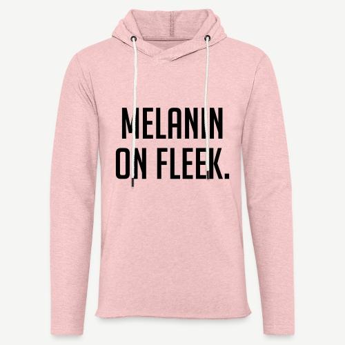 Melanin On Fleek - Unisex Lightweight Terry Hoodie