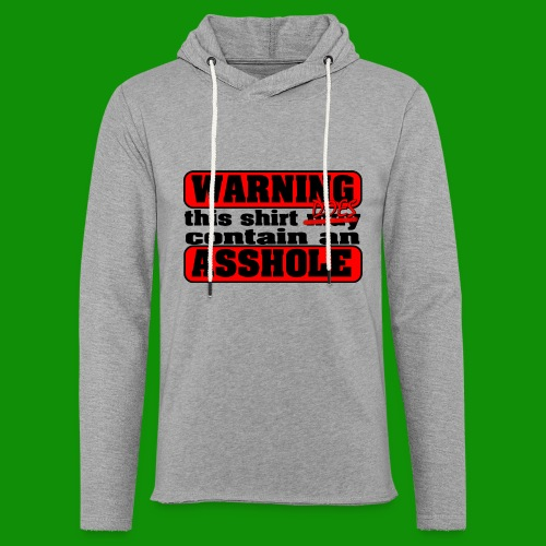 The Shirt Does Contain an A*&hole - Unisex Lightweight Terry Hoodie