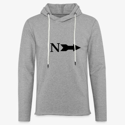 Narrow Logo Black - Unisex Lightweight Terry Hoodie